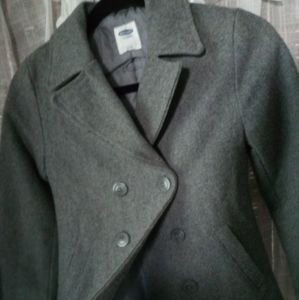 Old Navy grey pea coat